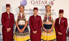 Qatar Airways pops-up in Prague
