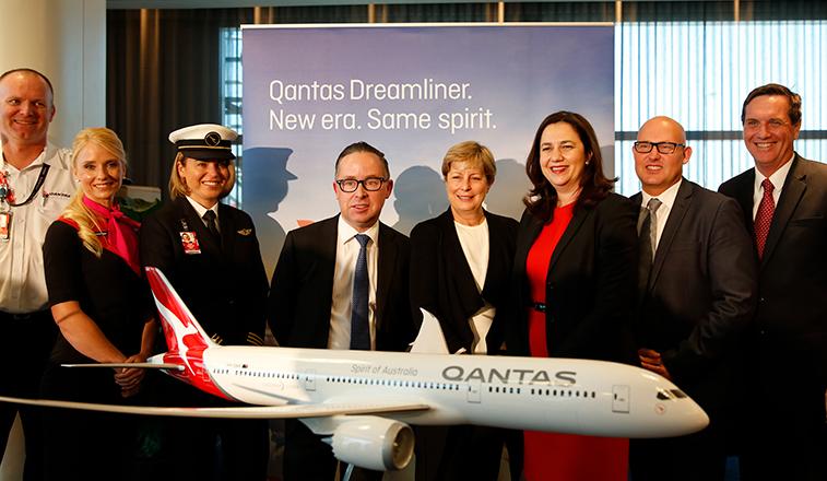 Qantas 787 Brisbane base