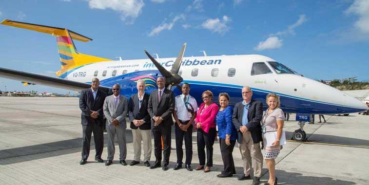 intercaribbean airways plane and crew