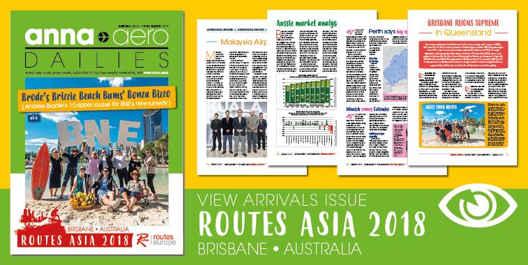 anna.aero World Tour 2018 continues: Routes Asia in Brisbane