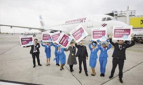 Eurowings opens Nuremberg base; Vienna bolstered too