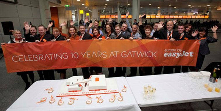 easyJet's biggest base London Gatwick analysed