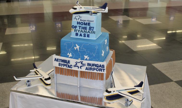 Ryanair Bourgas cake