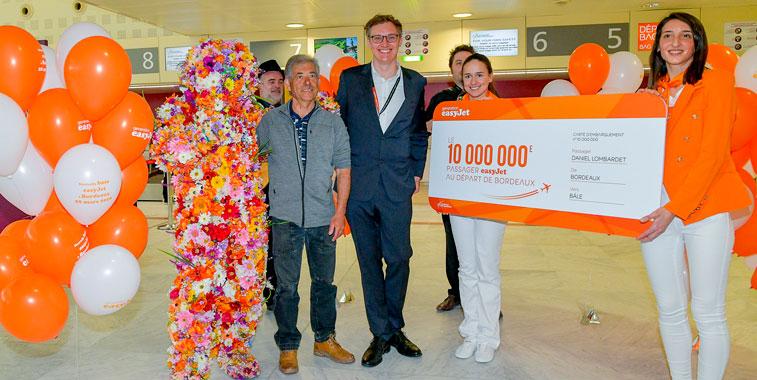 easyJet Bordeaux 10 million passengers