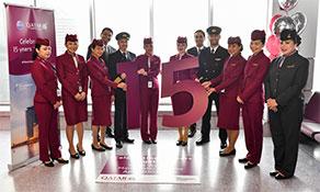 Qatar Airways celebrates 15th anniversary of Manchester service