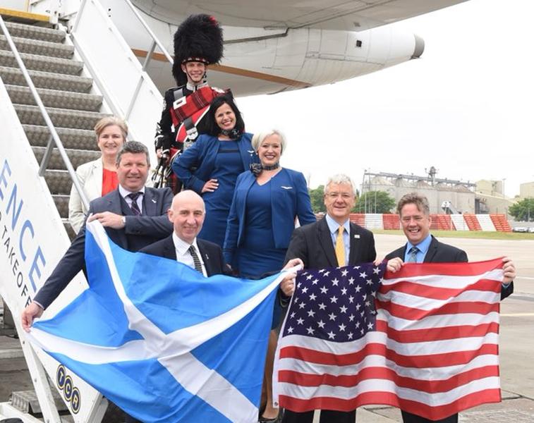 United Airlines Edinburgh