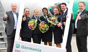 Germania feeds Faro from Friedrichshafen