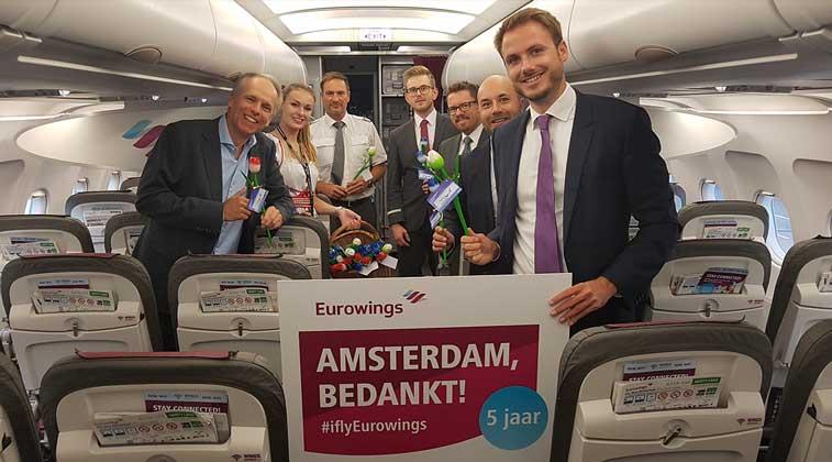 Eurowings, Amsterdam