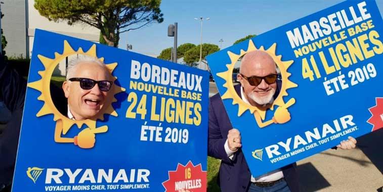Ryanair, Bordeaux, Marseille