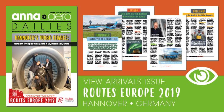 Routes Europe Arrivals magazine