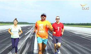 Training underway for this year's Budapest Airport - anna.aero Runway Run, in partnership with Lufthansa Technik