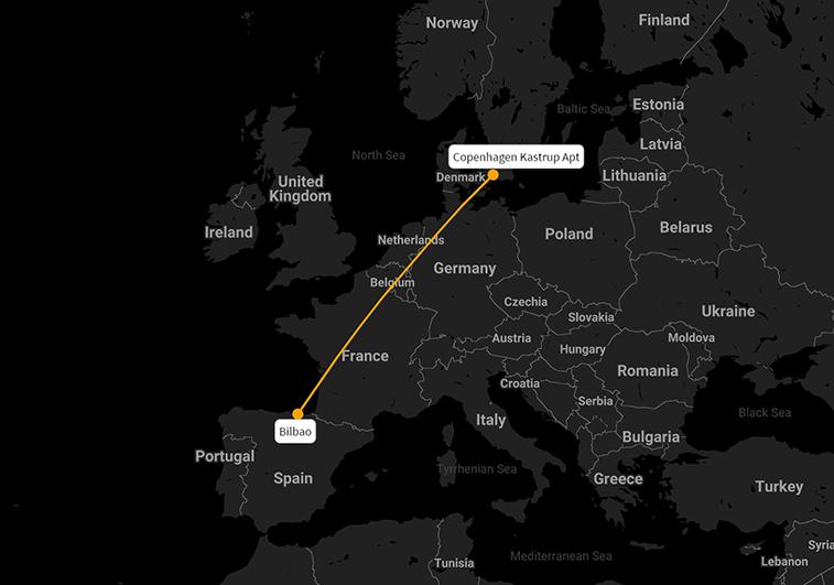 Copenhagen - Bilbao, a large unserved market; we examine profitability using RDC's Apex platform