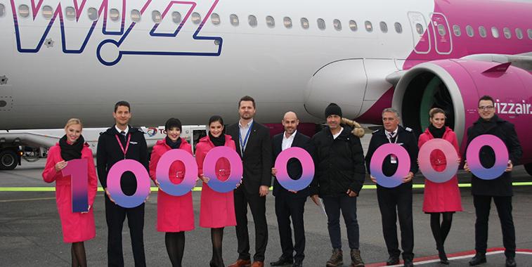 WizzAir 10 miljoenste passagier