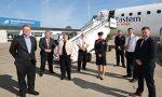 Eastern Airways takes off from Teesside to Heathrow