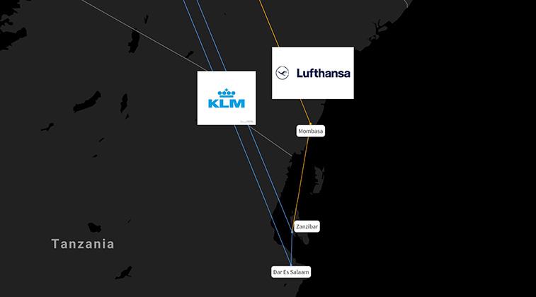 KLM and Lufthansa to BOTH begin Zanzibar; fast-growing from Europe